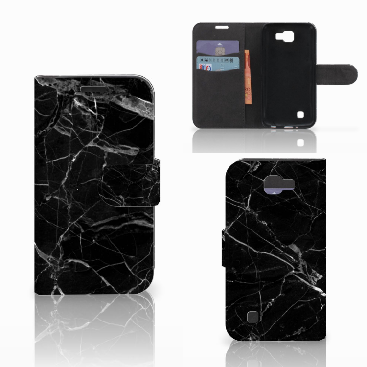 LG K4 Bookcase Marmer Zwart