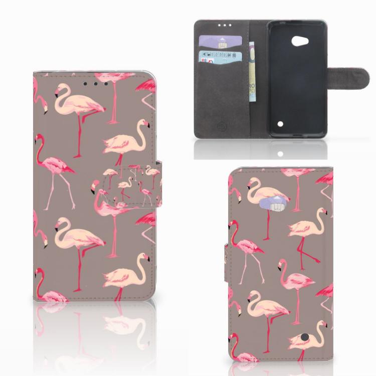 Microsoft Lumia 640 Telefoonhoesje met Pasjes Flamingo