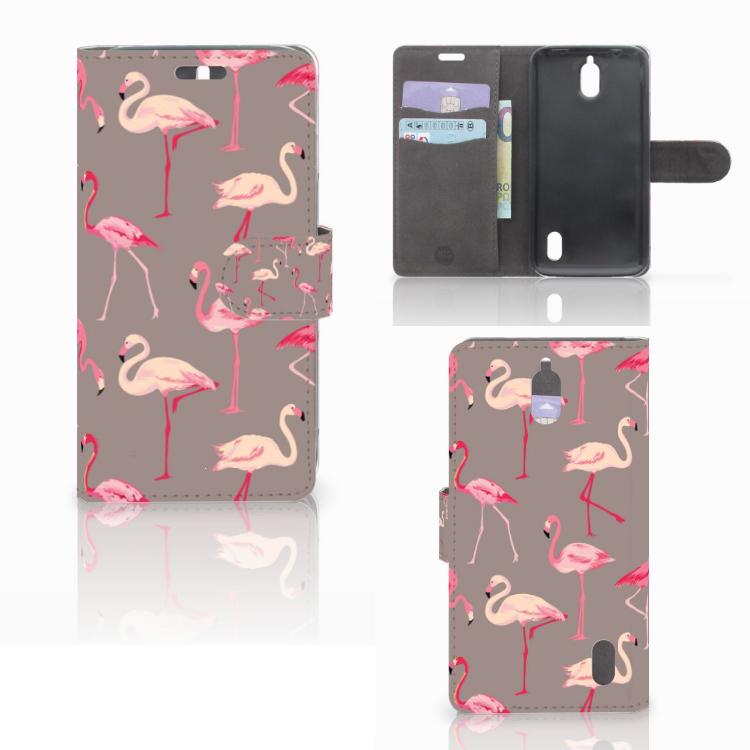 Huawei Y625 Telefoonhoesje met Pasjes Flamingo