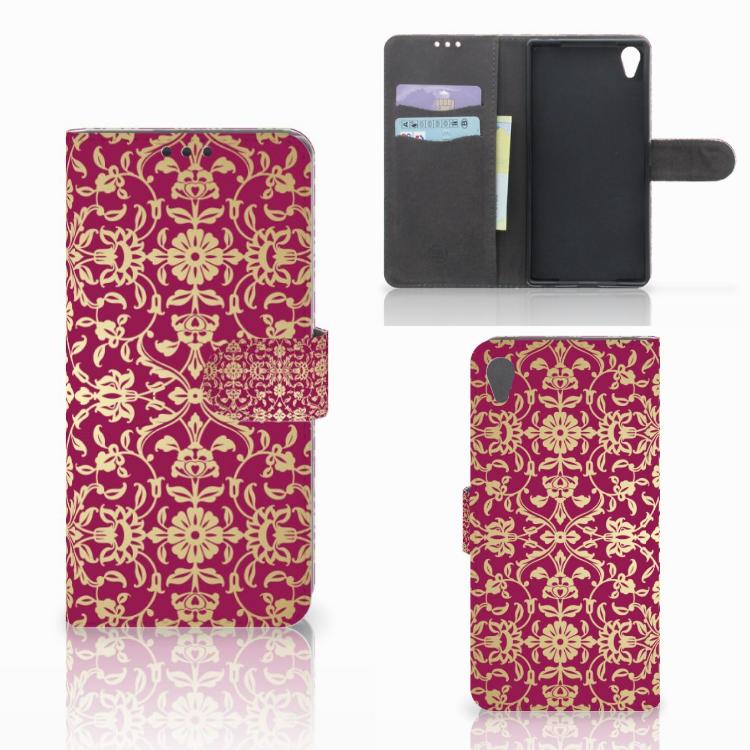 Wallet Case Sony Xperia Z5 Premium Barok Pink