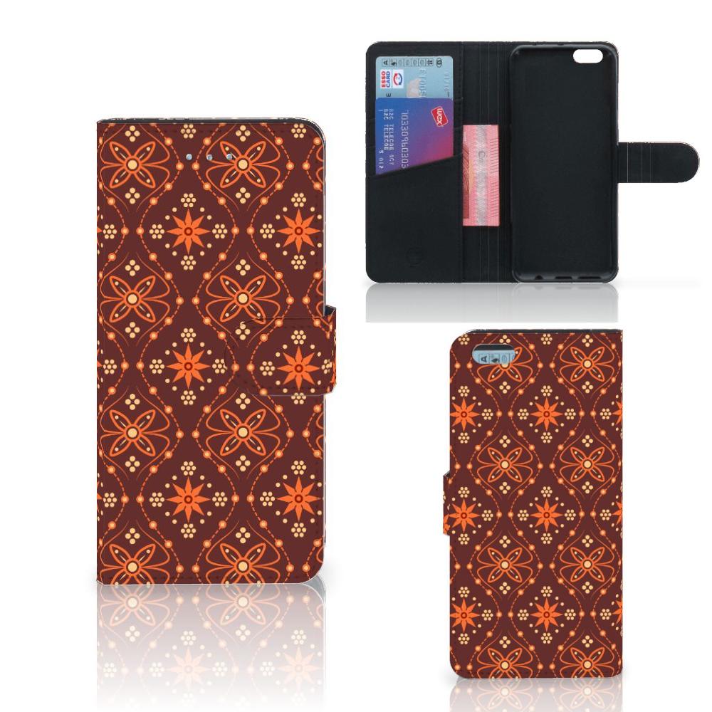 Apple iPhone 6 Plus | 6s Plus Telefoon Hoesje Batik Brown