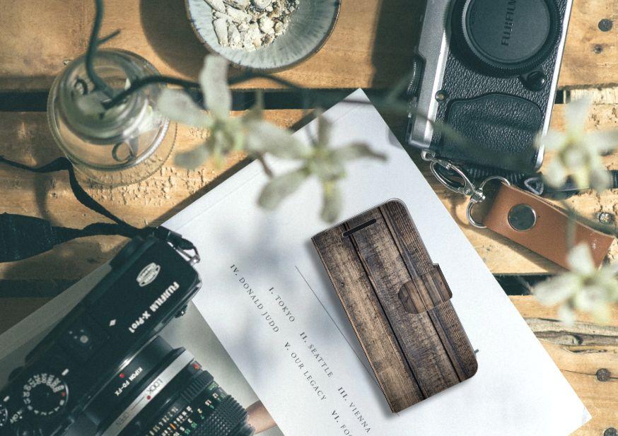 HTC One M9 Book Style Case Steigerhout