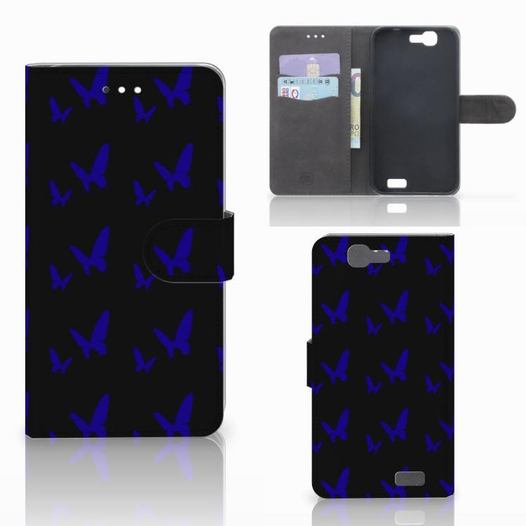Huawei Ascend G7 Telefoon Hoesje Vlinder Patroon