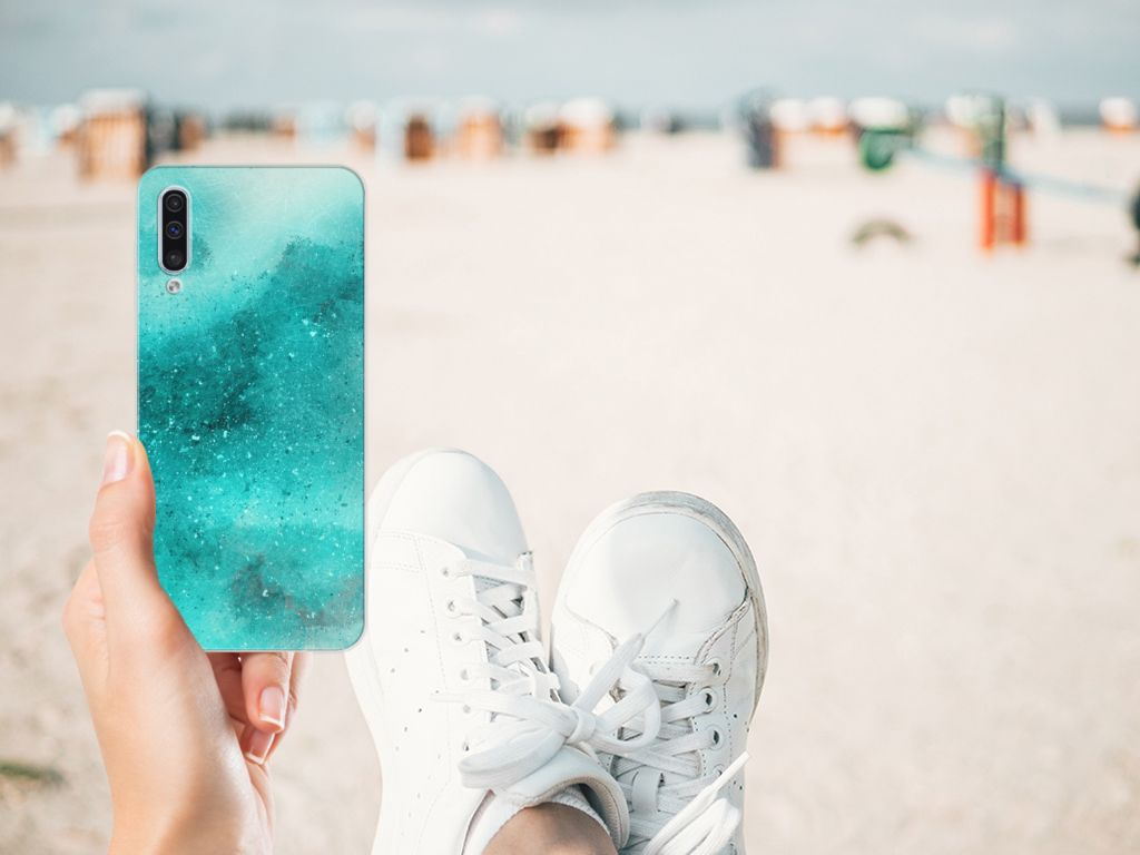 Hoesje maken Samsung Galaxy A50 Painting Blue