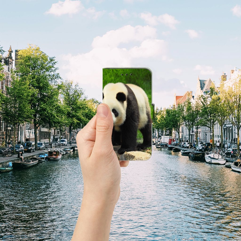 Microsoft Lumia 550 Telefoonhoesje met Pasjes Panda