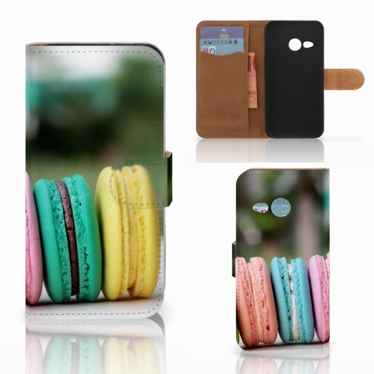 HTC One Mini 2 Book Cover Macarons