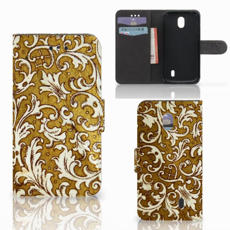 Wallet Case Nokia 1 Barok Goud
