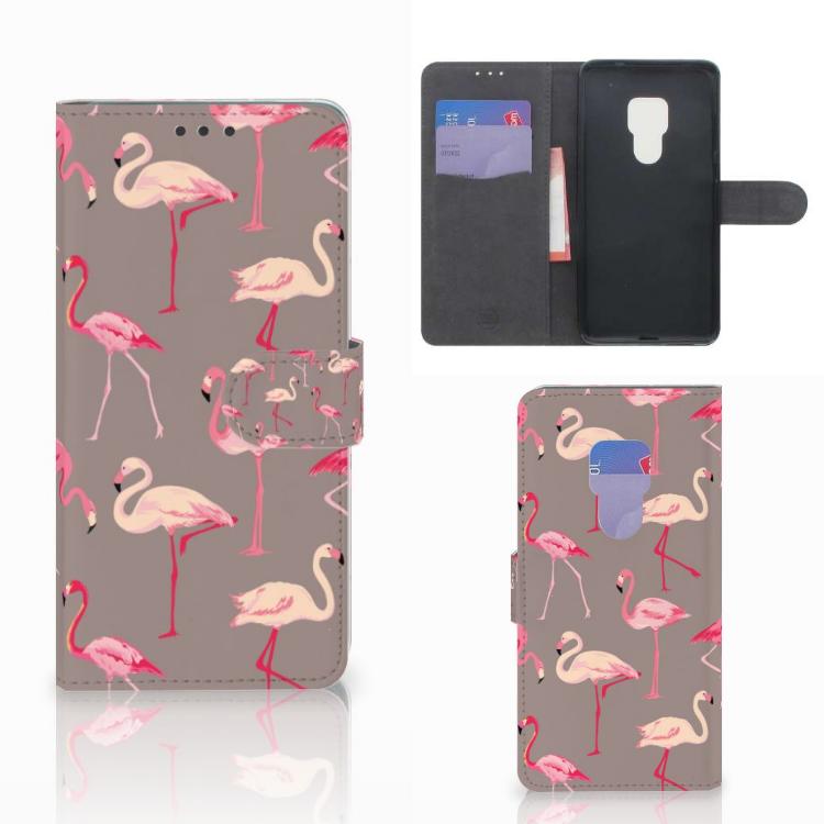 Huawei Mate 20 Telefoonhoesje met Pasjes Flamingo