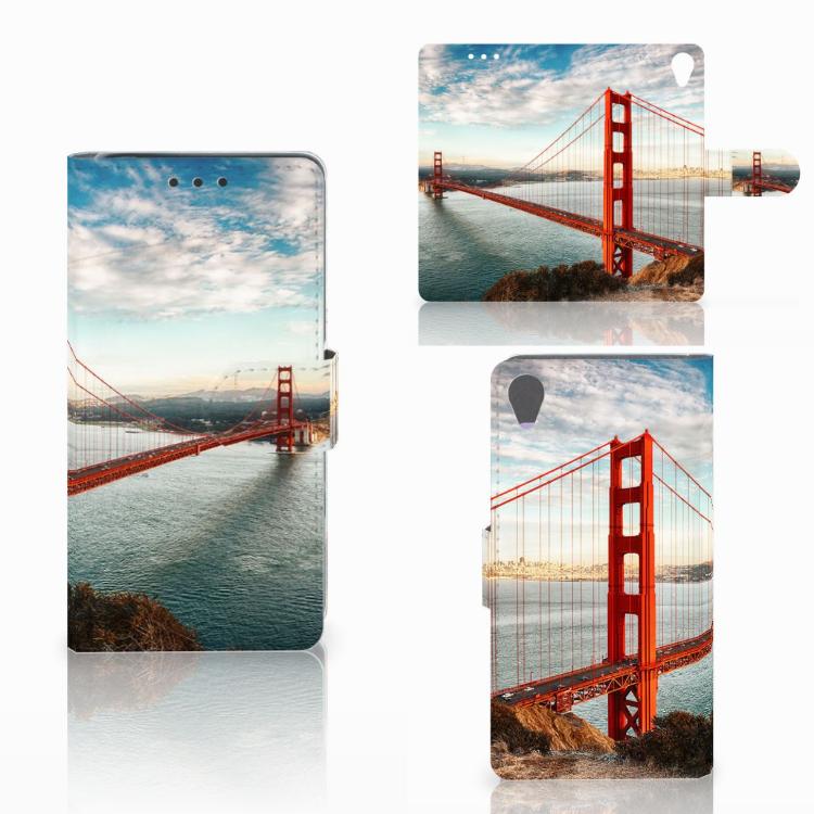 Sony Xperia X Flip Cover Golden Gate Bridge