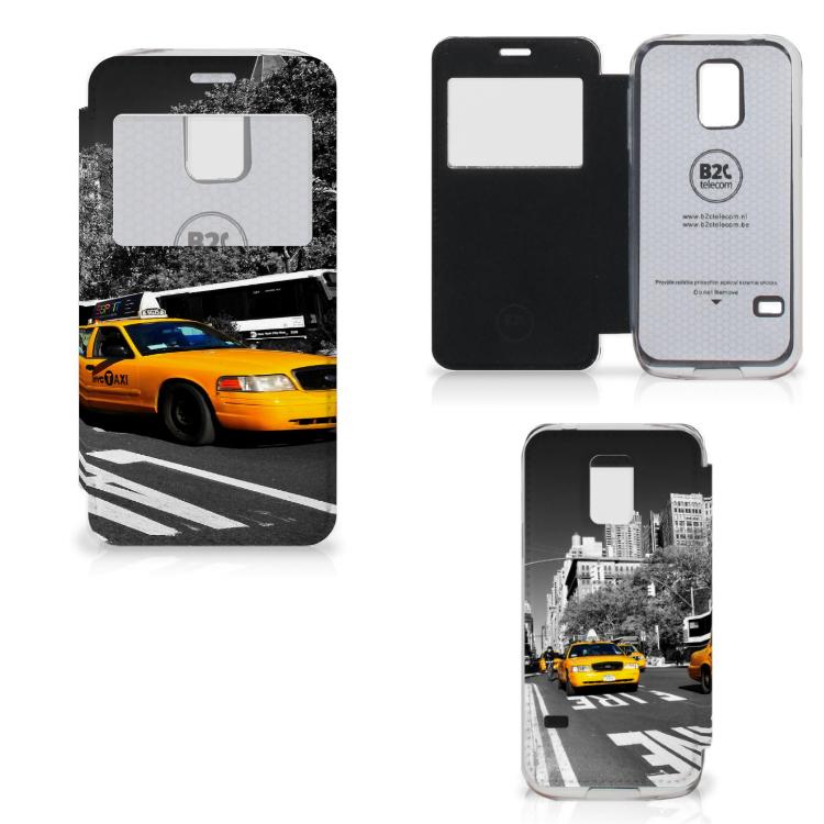 Samsung Galaxy S5 Mini Flip Cover New York Taxi