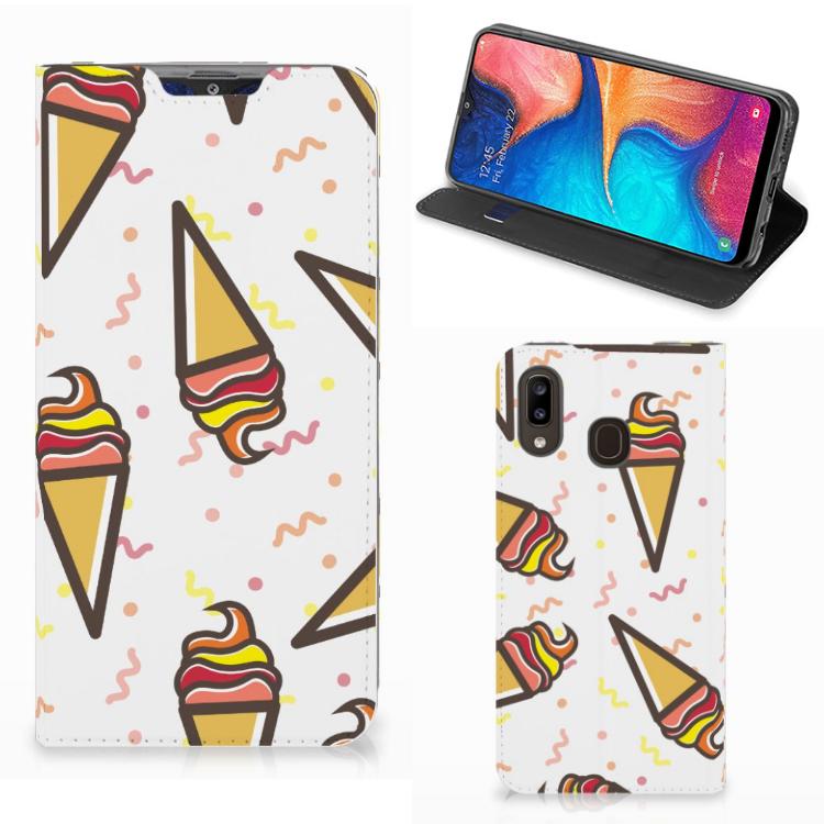 Samsung Galaxy A30 Flip Style Cover Icecream