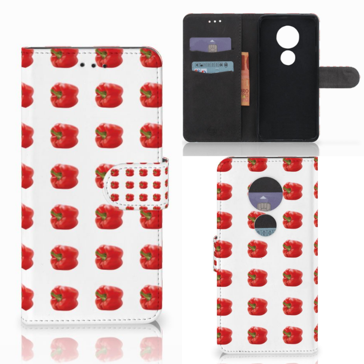 Motorola Moto E5 Play Book Cover Paprika Red