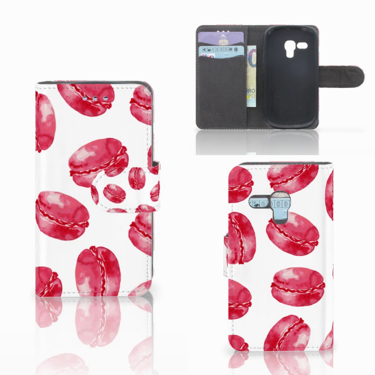 Samsung Galaxy S3 Mini Book Cover Pink Macarons