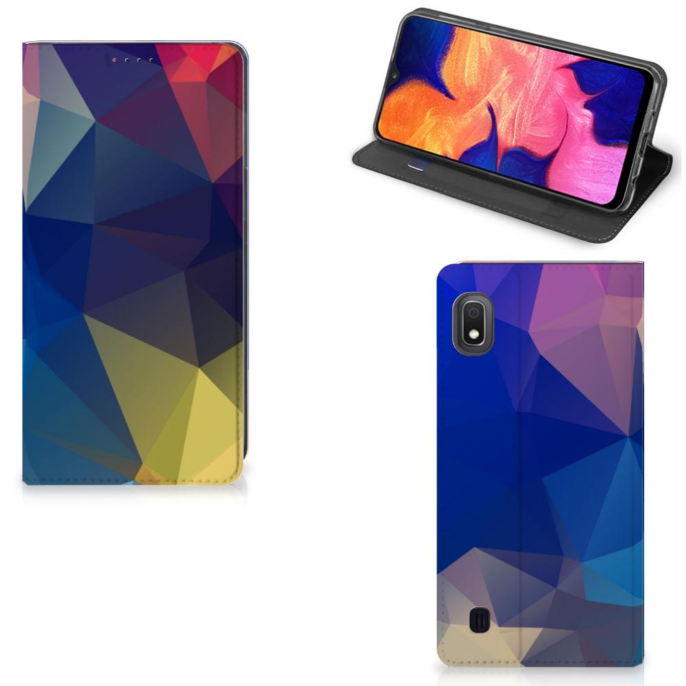Samsung Galaxy A10 Stand Case Polygon Dark