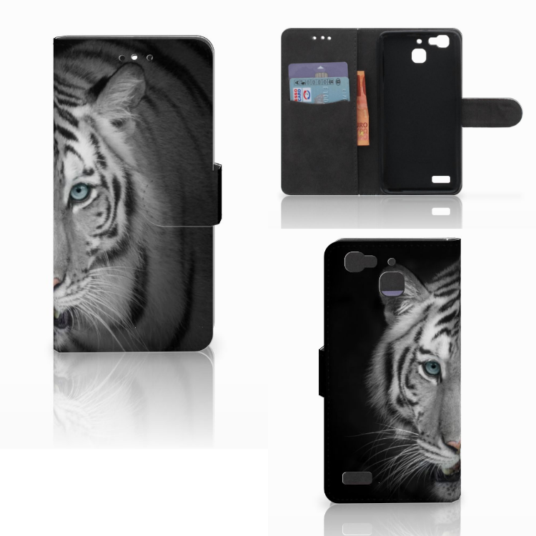 Huawei P8 Lite Smart (GR3) Telefoonhoesje met Pasjes Tijger