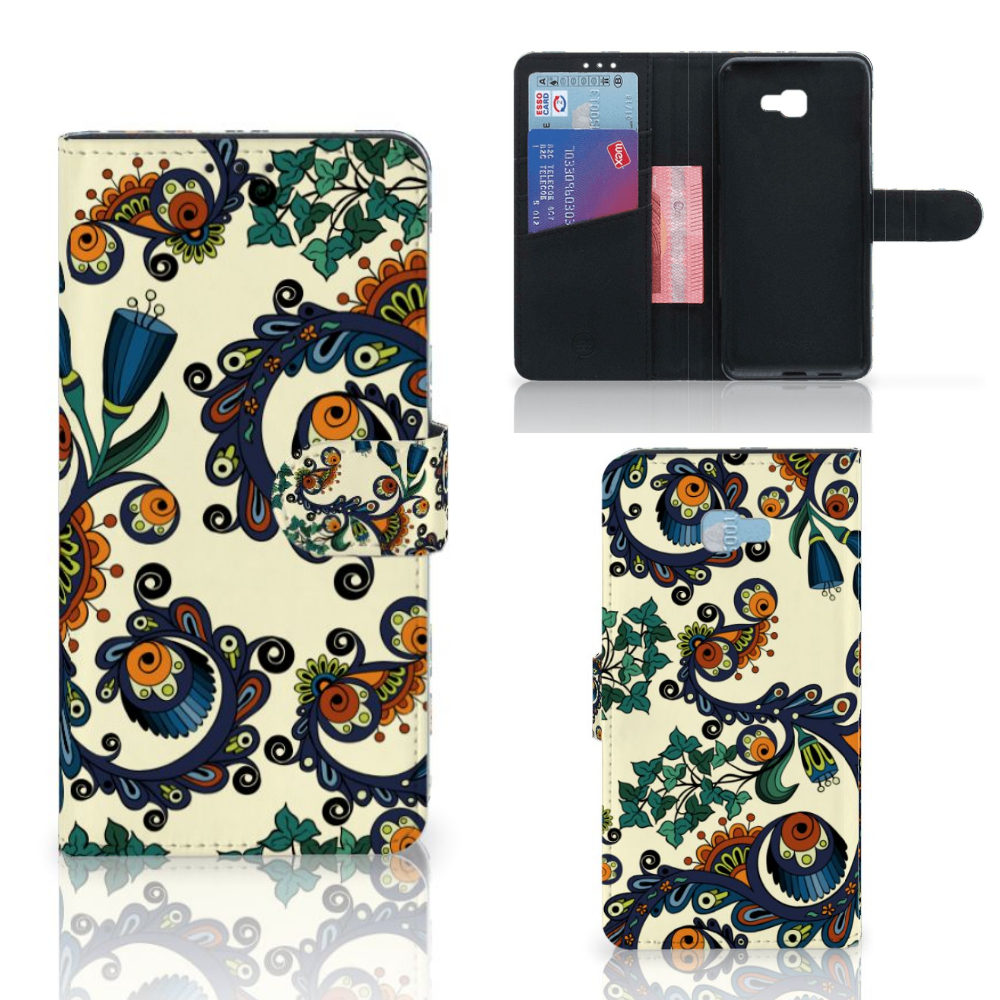 Wallet Case Samsung Galaxy J4 Plus (2018) Barok Flower