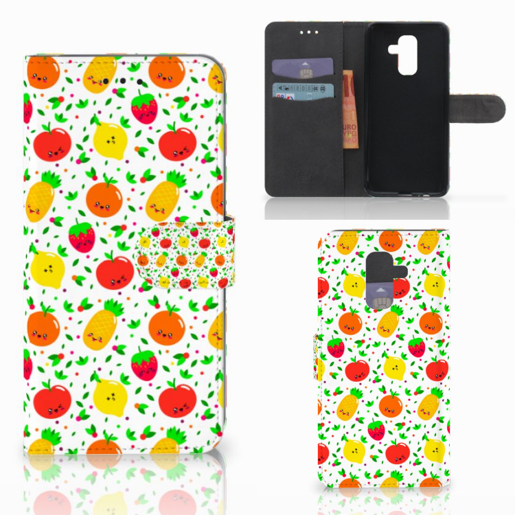 Samsung Galaxy A6 Plus 2018 Book Cover Fruits