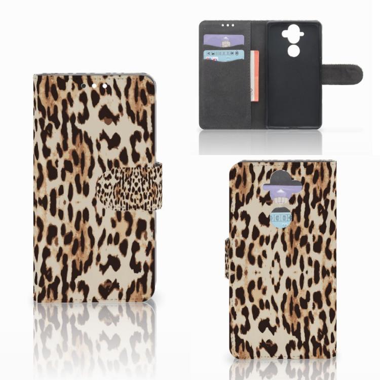 Nokia 8 Sirocco | Nokia 9 Telefoonhoesje met Pasjes Leopard