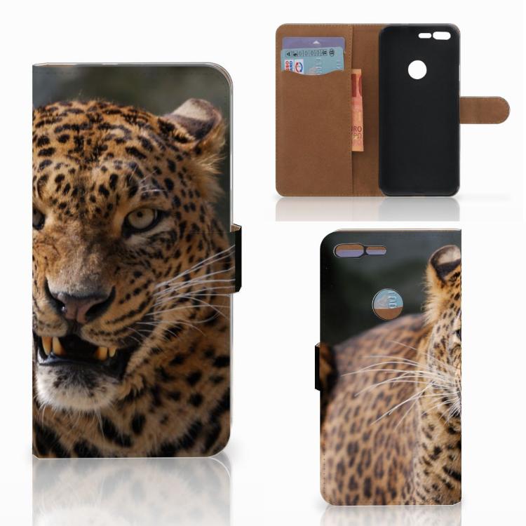Google Pixel XL Telefoonhoesje met Pasjes Luipaard