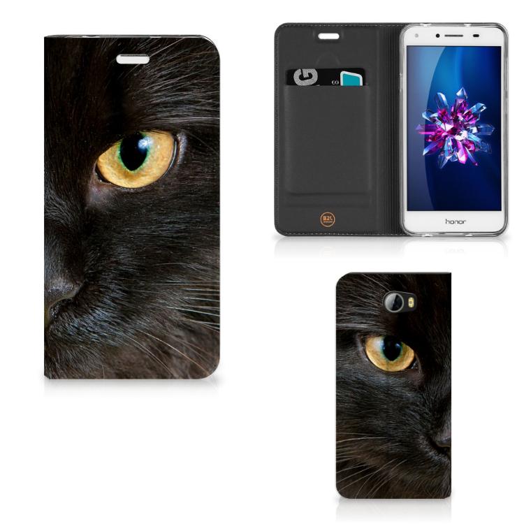 Huawei Y5 2   Y6 Compact Hoesje maken Zwarte Kat