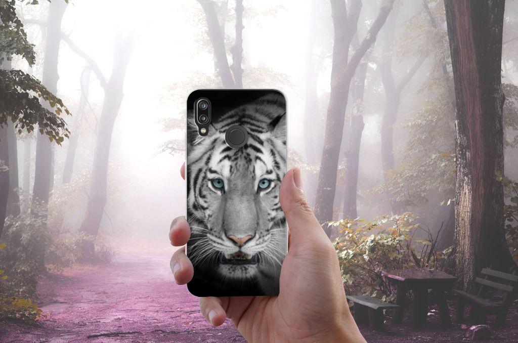 Huawei P20 Lite TPU Hoesje Tijger