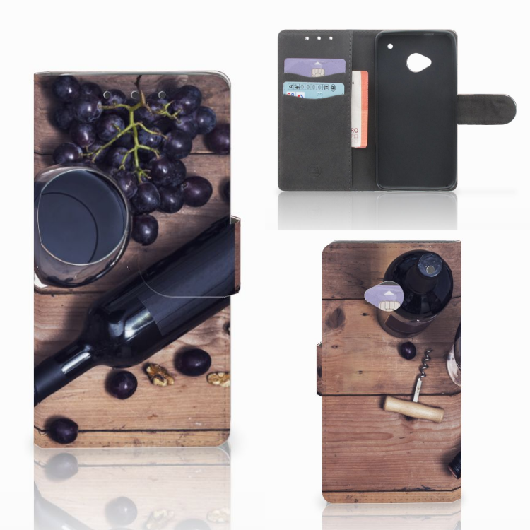 HTC One M7 Book Cover Wijn
