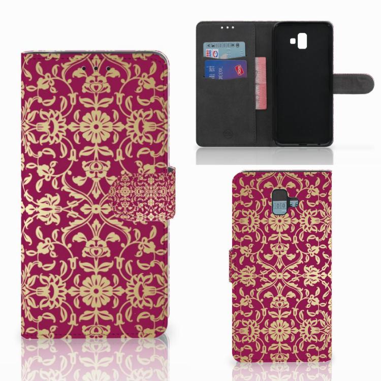 Wallet Case Samsung Galaxy J6 Plus (2018) Barok Pink