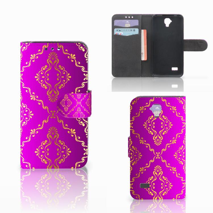 Wallet Case Huawei Y5 Y560 Barok Roze