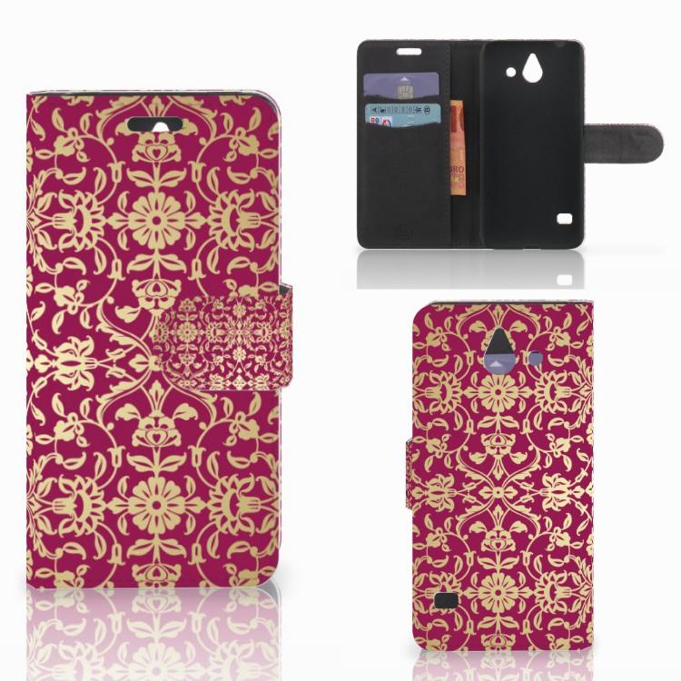 Wallet Case Huawei Ascend Y550 Barok Pink
