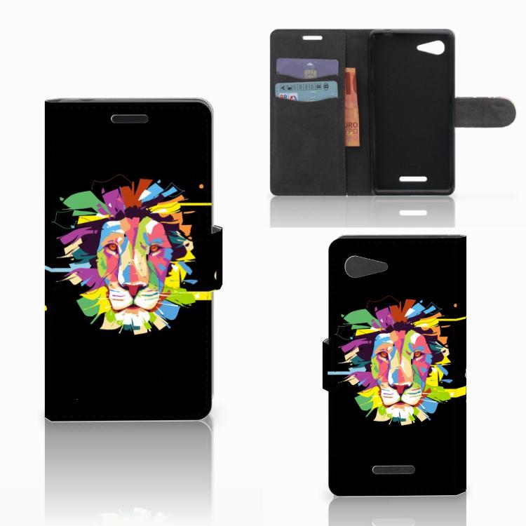 Sony Xperia E3 Leuk Hoesje Lion Color