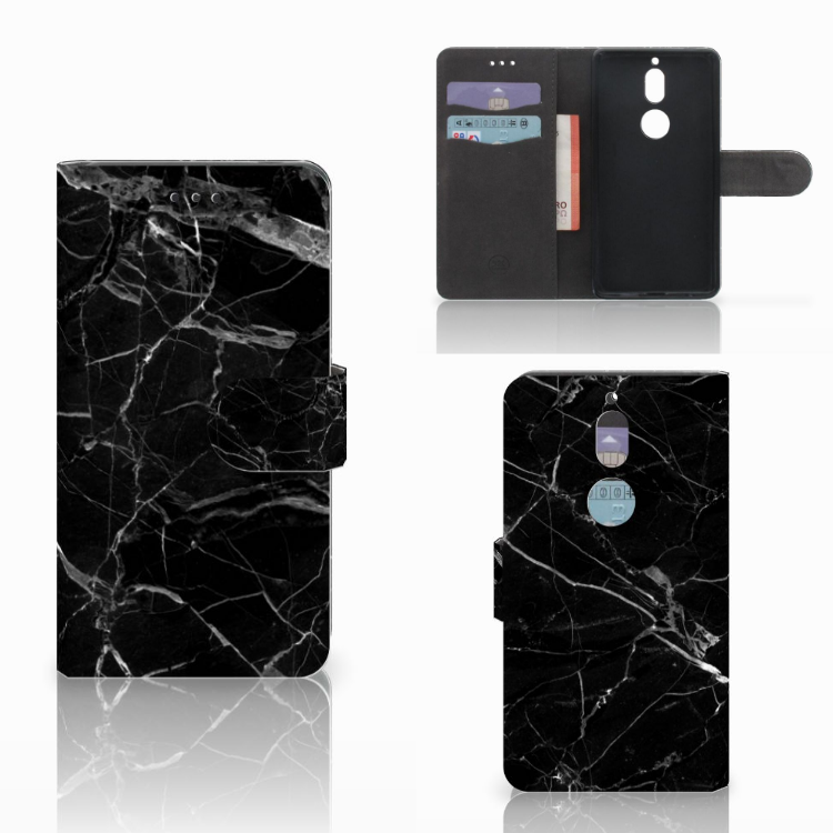 Nokia 7 Bookcase Marmer Zwart - Origineel Cadeau Vader