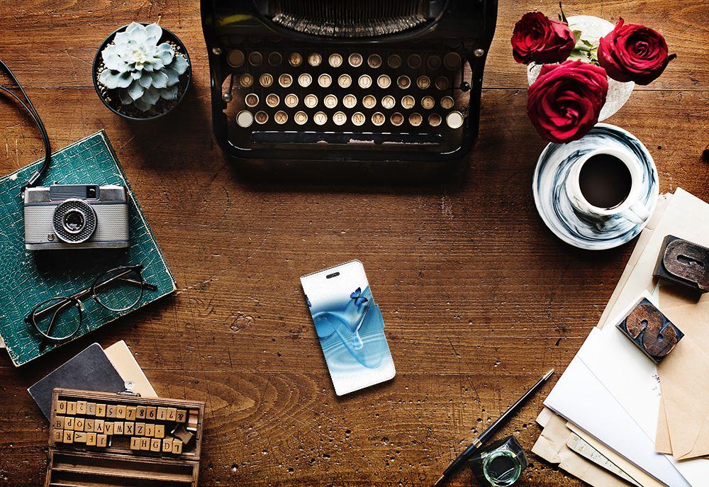 Huawei Ascend Y550 Telefoonhoesje met Pasjes Vlinders
