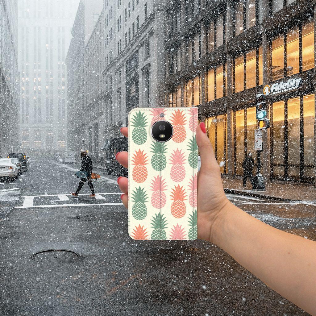 Motorola Moto G5S Standcase Hoesje Design Ananas