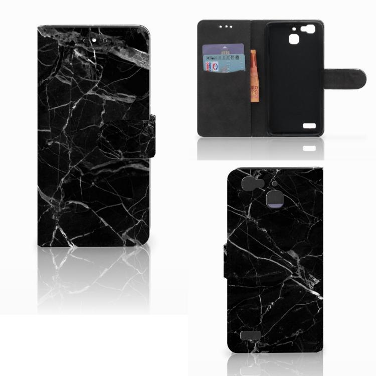 Huawei P8 Lite Smart (GR3) Bookcase Marmer Zwart