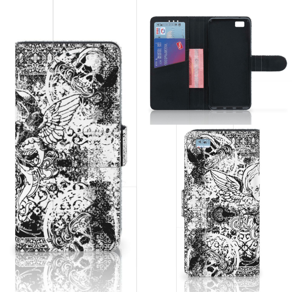 Telefoonhoesje met Naam Huawei Ascend P8 Lite Skulls Angel