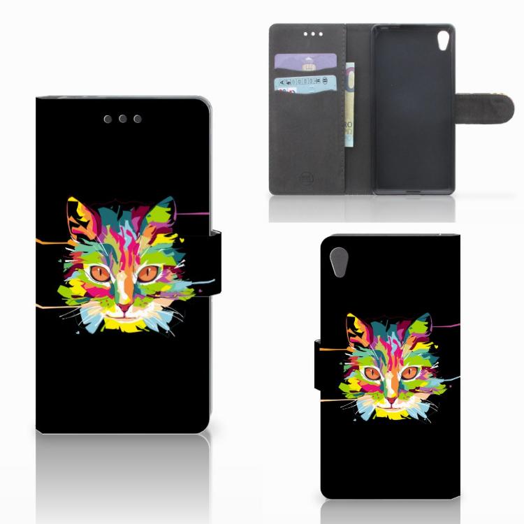Sony Xperia E5 Leuke Hoesje Cat Color