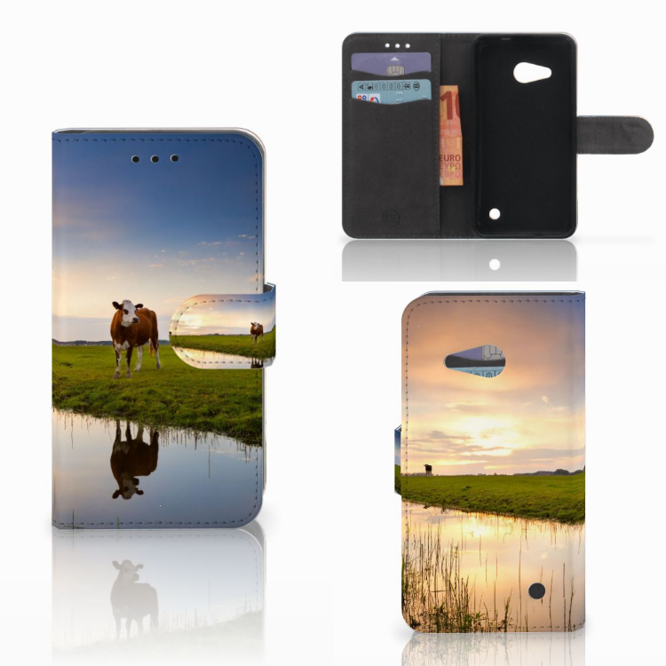 Microsoft Lumia 550 Telefoonhoesje met Pasjes Koe