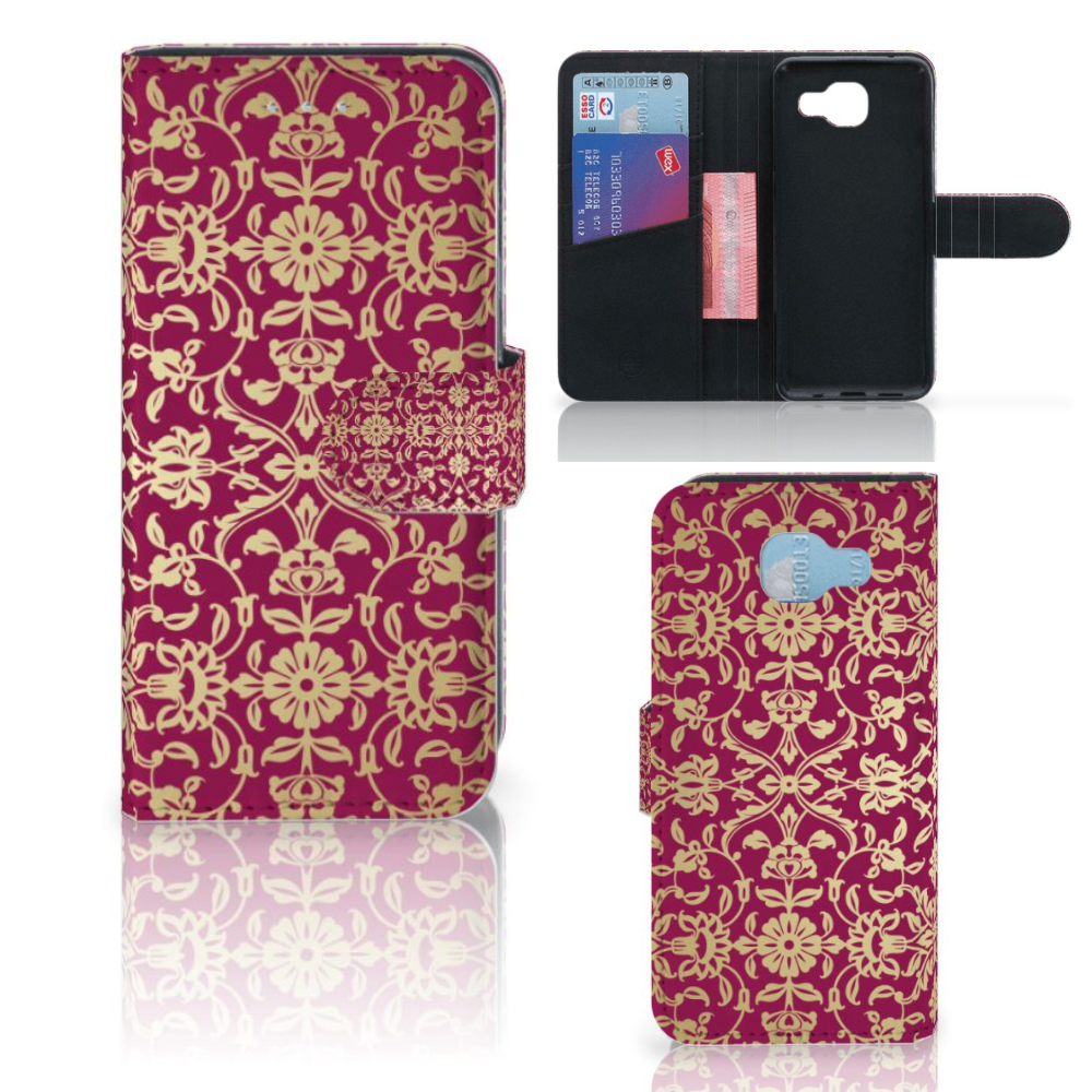 Wallet Case Samsung Galaxy A5 2016 Barok Pink