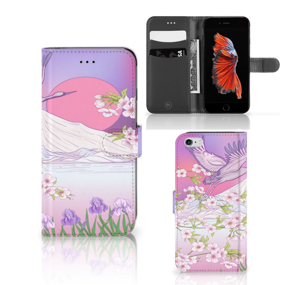 Apple iPhone 6 Plus | 6s Plus Telefoonhoesje met Pasjes Bird Flying