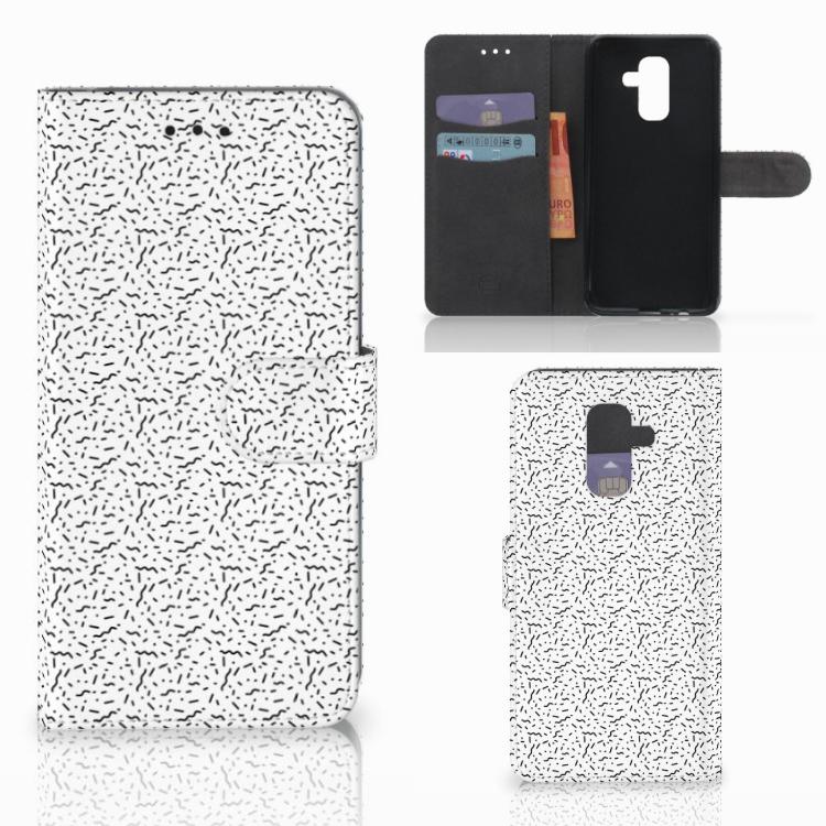 Samsung Galaxy A6 Plus 2018 Telefoon Hoesje Stripes Dots