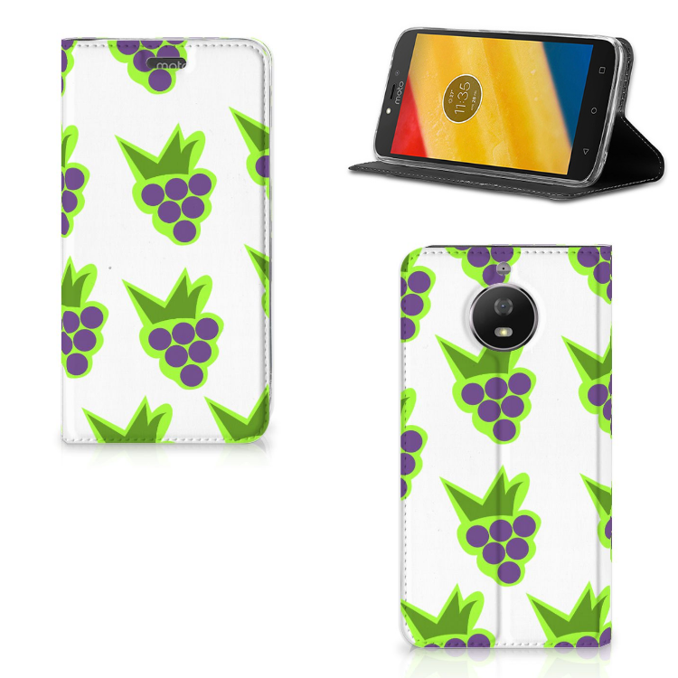 Motorola Moto G5S Flip Style Cover Druiven
