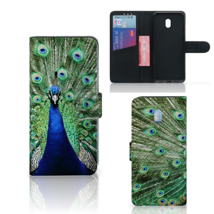 Xiaomi Redmi 8A Telefoonhoesje met Pasjes Pauw