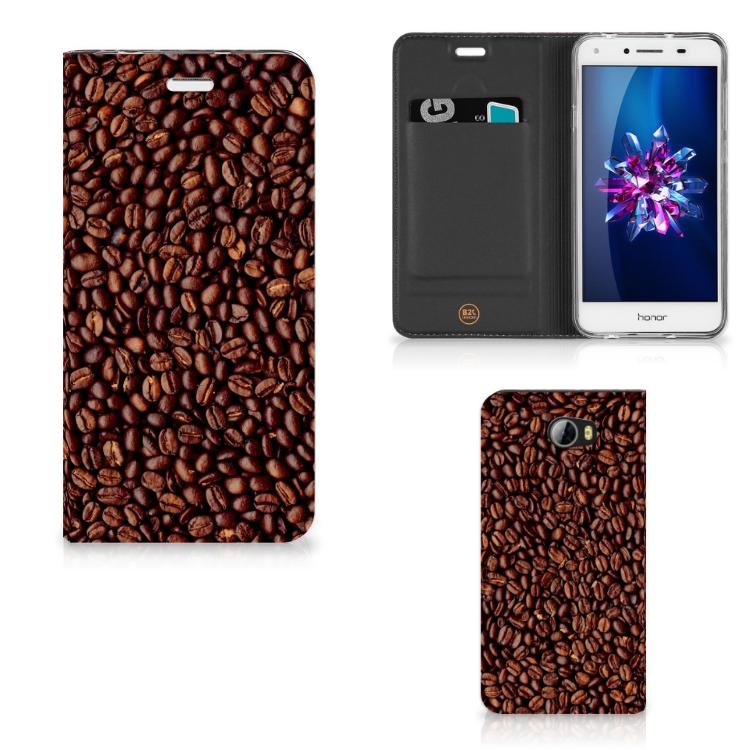 Huawei Y5 2   Y6 Compact Flip Style Cover Koffiebonen