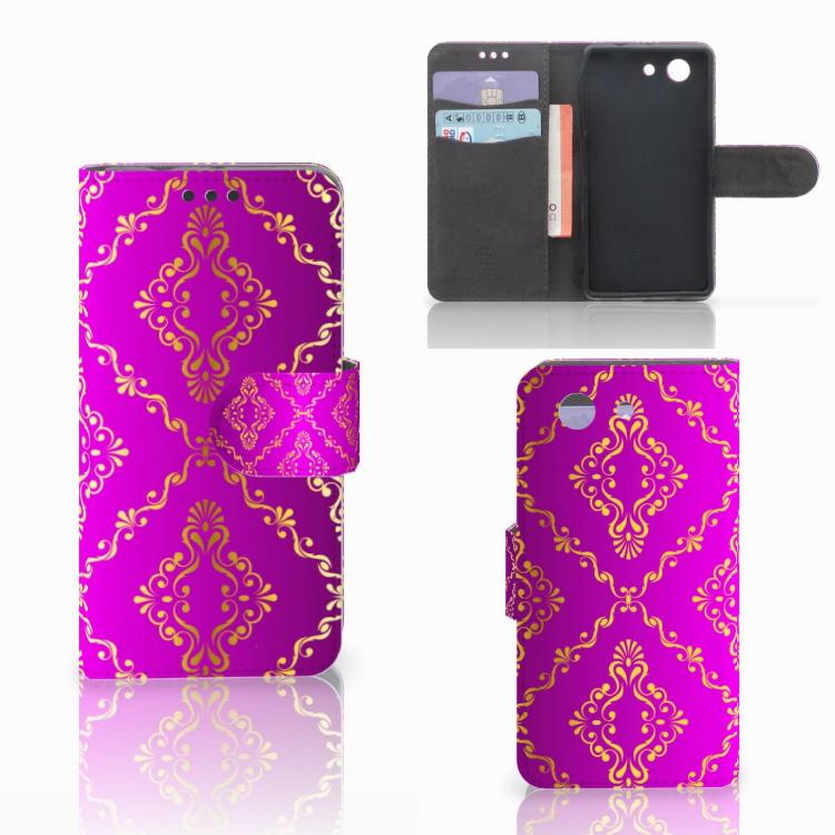 Wallet Case Sony Xperia Z3 Compact Barok Roze