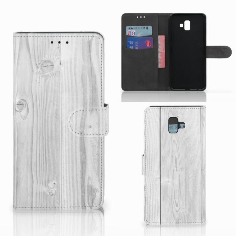 Samsung Galaxy J6 Plus (2018) Book Style Case White Wood