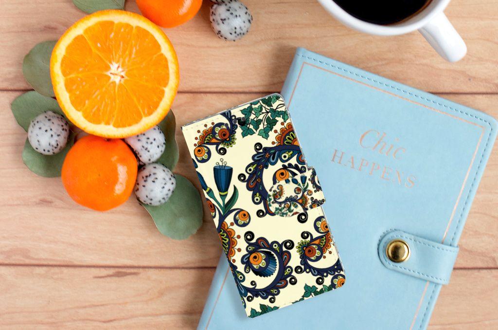 Wallet Case Sony Xperia E5 Barok Flower