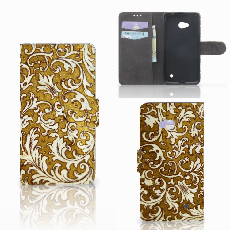 Wallet Case Microsoft Lumia 640 Barok Goud