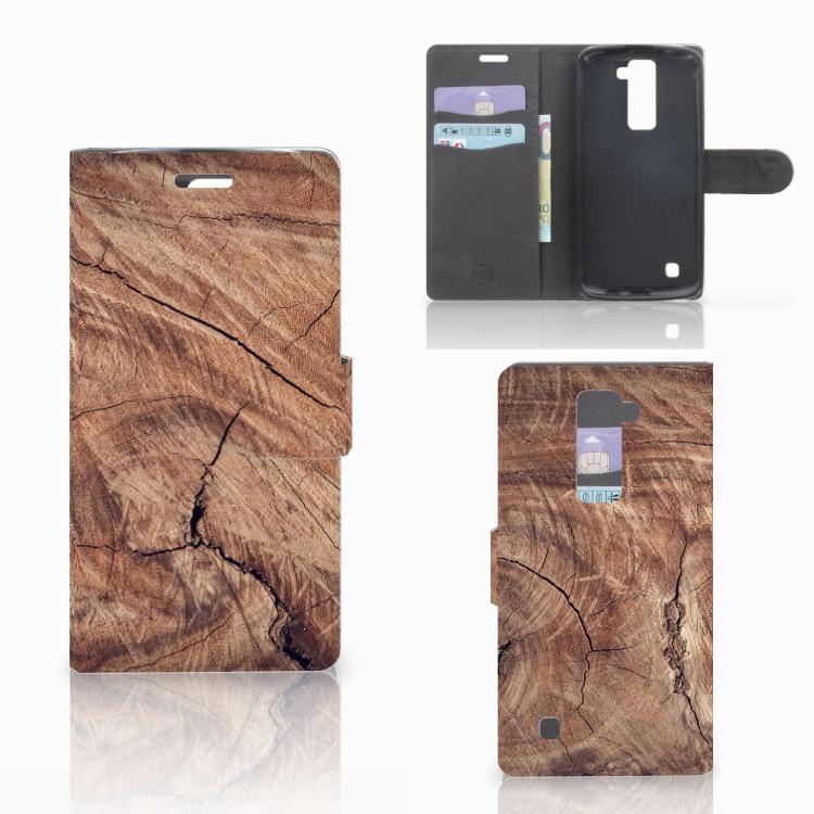 LG K10 2015 Book Style Case Tree Trunk
