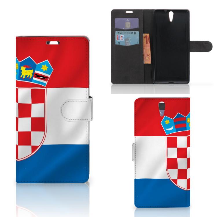 Sony Xperia C5 Ultra Bookstyle Case Kroatië