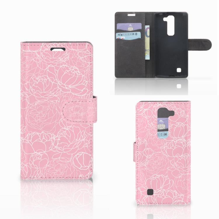 LG Magna | G4C Wallet Case White Flowers